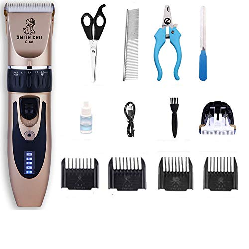 SXFMJ Dog Clippers, Best Pet Grooming Clippers Low Noise Cordless Pet Clippers Rechargeable,Electric Grooming Clippers Kit for All Pets [Upgraded Version],LCD Standard Models