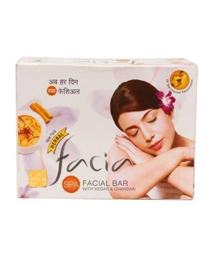 Facia Spa Facial Bar Herbal With Kesar (Saffron) & Chandan (Sandalwood) 75 Grams