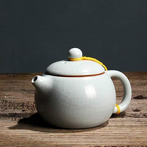 BUYTG Vintage cerámica Color sólido Tetera, Cafetera, Menaje for té, Alta Temperatura, Superficie Agrietada