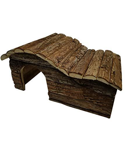 Dehner Elliot 4203816 - Casetta per roditori, ca. 43 x 28 x 22 cm, legno di abete naturale, L