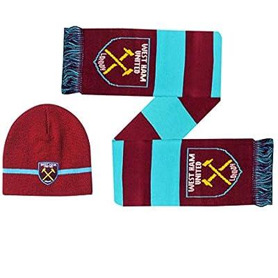 West Ham United Winter Warmers Hat & Scarf Set