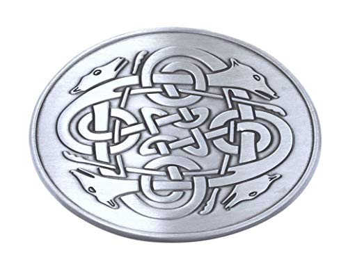 Lee River Goods Co - Men's Snap-on Belt Buckle - Celtic Eternal Knot, Silver, One Size