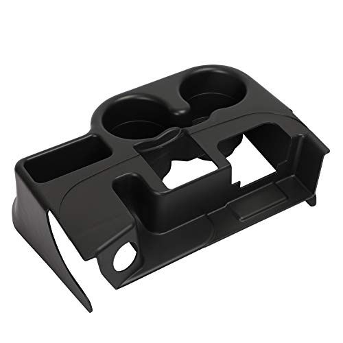 HIMIKI Center Console Cup Holder Attachment Add-On Compatible with 2003-2012 Dodge Ram 1500 2500 3500 (Black)