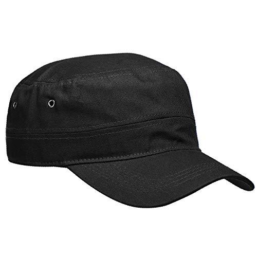 Wilhelm Sell® Armycap van katoen - baseballcap voor dames en heren - pet in zwart - baseballcap - pet met verstelbare klep