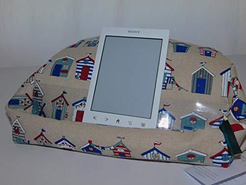 Lesekissen, Kissen fürs Tablet, Halter für Tablet, iPad, E-Book-Reader, Buch Maritim Strandhäuser