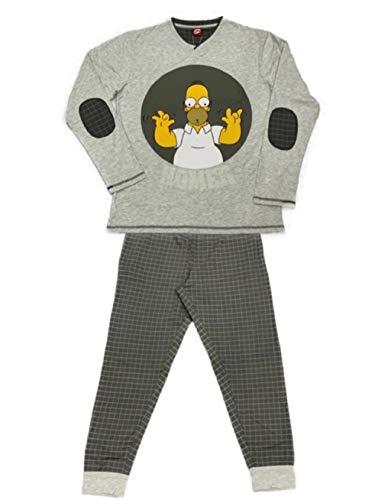 Javier Golmar Pijama de Hombre Homer Simpson 6402 - Gris, M