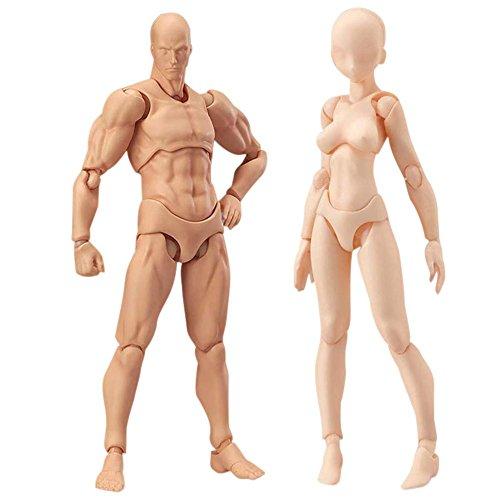 Espeedy Maniqui articulado,2 Piezas/Set Cuerpo Ligero Chan & Kun PVC Movebale Figura de acción Modelo para la versión SHF 2,0 Regalos