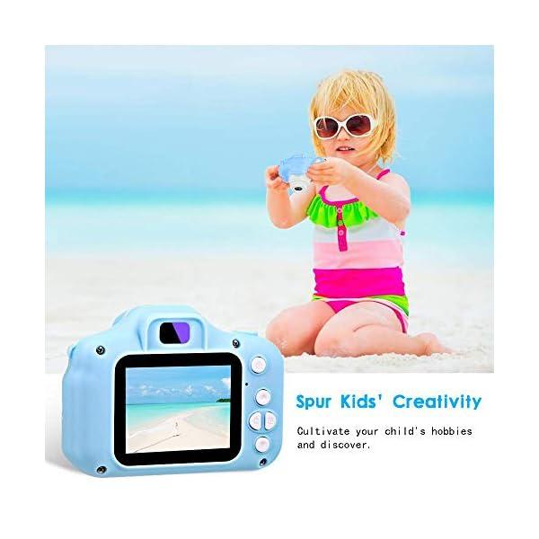 ZStarlite Cámara Digital para Niños, 1080P 2.0″HD Selfie Video Cámara Infantil, Regalos Ideales para Niños Niñas de 3-10 Años, con Tarjeta TF 32 GB, Lector de Tarjetas