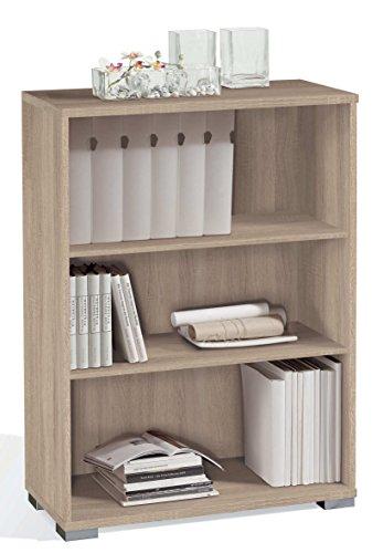 Abitti Estantería librería Biblioteca pequeña Color Cambrian, estantes Regulables, Gruesos de 22MM, para Oficina, despacho o Estudio. 102cm Altura x 75cm Ancho x 33cm Fondo