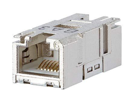 METZ CONNECT RJ45-Einbaukupplung Kupplung, gerade Pole: 8P8C 1401200810MI Grau 1401200810MI 1St.