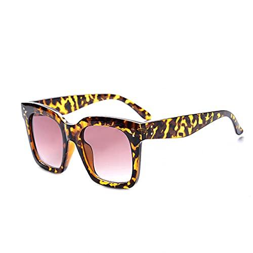 DAIDAICDK Gafas de Sol cuadradas de Gran tamaño Transparentes para Mujer Gafas de Sol con gradiente Gafas de Viaje para Mujer al Aire Libre