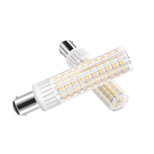 Ymm Bombilla LED B15D brillo ultra alto de 8.5W 1105 lúmenes, AC 90-265V ángulo de 360 grados,CRI 90Ra, blanco cálido 3000K, repuesto para bombillas halógenas de 100W,no regulable(1 paquete)