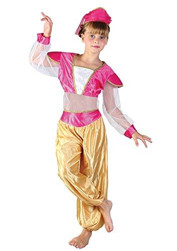 Fiori Paolo-Principessa Araba Jasmine Costume Bambina, Rosa, L (7-9 anni), 61202.L