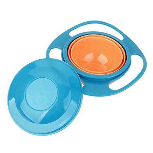 Kongnijiwa Universal-Gyro Bowl Anti Spill Bowl Glatte 361 Grad Rotation Gyroscopic Schüssel für Baby-Kind-Kinder