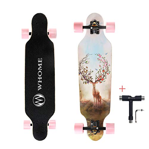 "WHOME 31"" Pro Small Longboard Carving Cruising Skateboard"
