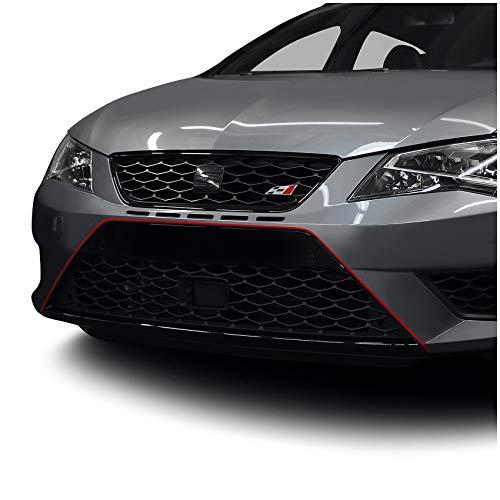 Designline Película rojo Stripe Sticker Adhesivo Diapositiva Tiras decorativas para coche