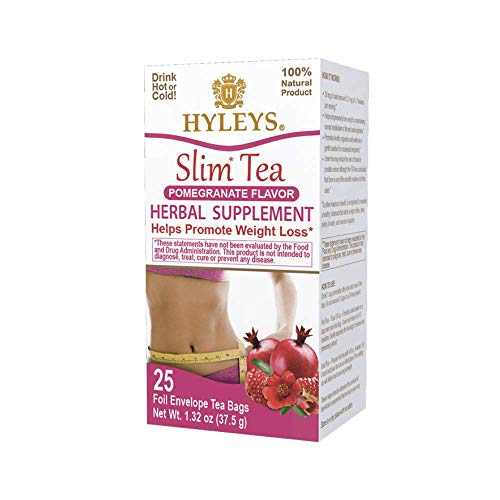Hyleys Slim Tea Pomegranate 25 Tea Bags 100 Natural Sugar