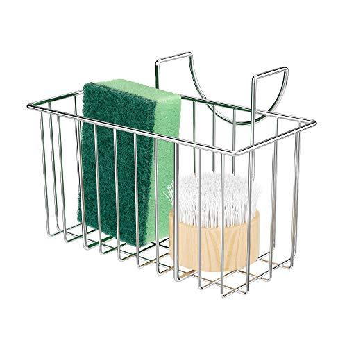 Dullrout Spülbecken-Schwammhalter, super stabiles Hakendesign, Küchenspüle, Organizer für Geschirrtuch, Seife, Spülmittel, Abtropfgestell, rostfrei und langlebig