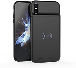 BBtech iPhone X XS Battery Case, Slim Case Compatible iPhone X XS 3600mAh Rechargeable Charging Case Portable Extended Backup Power Cover with Wireless Chaging Function with Magnet (Black)