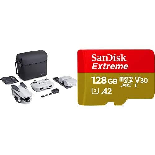 DJI Mavic Air 2 Fly More Combo + Care Bundle - Drone + SanDisk Extreme Scheda di Memoria microSDXC da 128 GB