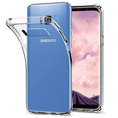 DOSMUNG Hülle kompatibel mit Samsung Galaxy S8 Plus, Transparent Handyhülle für Galaxy S8 Plus Schutzhülle, HD Soft Silikon Anti-Kratz Rückseite Backcover TPU Case für Samsung Galaxy S8 Plus / S8+