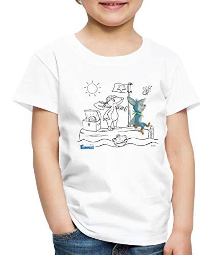 KiKA-Baumhaus Mit Fidi Motiv Zum Ausmalen Kinder Premium T-Shirt, 122-128, Weiß