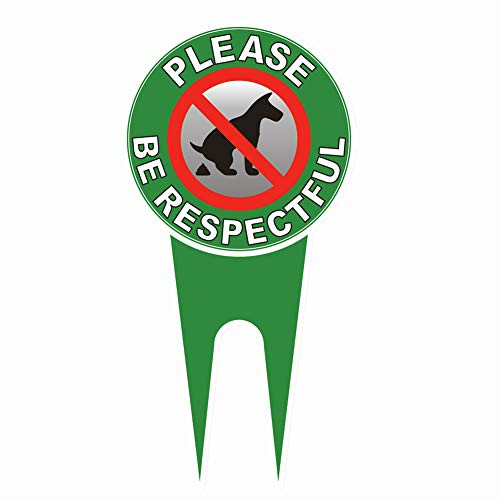 Guififer No Dog Pooping Bitte seien Sie respektvoll Aluminium-Yard Sign No Poop Dog Sign Verhindern Sie, dass Hunde auf Ihrem Rasen kacken No Peeing Hundeschild, wetterfest, Maße: 30,5 x 15,2 cm