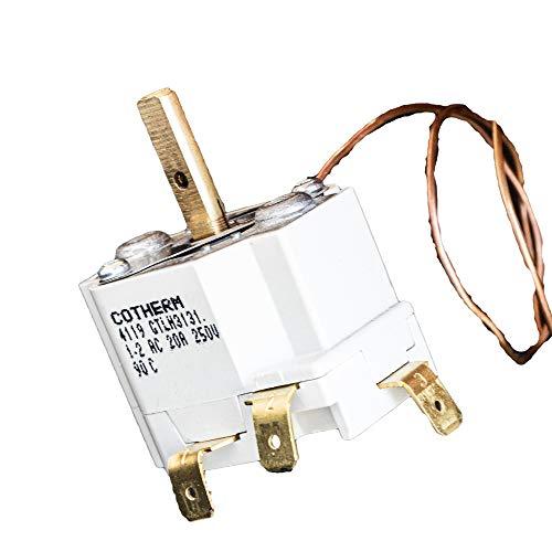 Cotherm Termostato 20-90 °C, calentador calentador de 3 conectores NO/NC