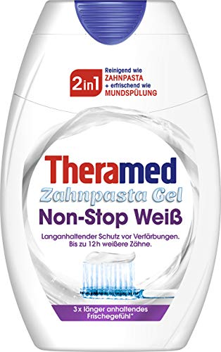 Theramed 2in1 Non-Stop White Zahncreme, 3er Pack (3 x 75 ml)