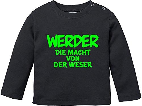 EZYshirt® Werder die Macht von der Weser Baby T-Shirt Longsleeve