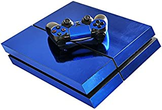Chickwin PS4 Vinyl Skin Full Body Cover Sticker Decal For Sony Playstation 4 Console & 2 Dualshock Controller Skins (Blue Glossy)