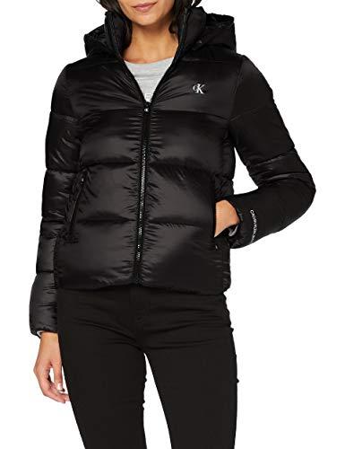 Calvin Klein Jeans Damen Mw Shiny Puffer Jacke, Black, M