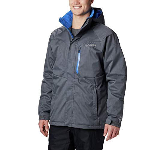 Columbia Men's Standard Alpine Action Winter Jacket, Waterproof & Breathable, Graphite, Super Blue, Large