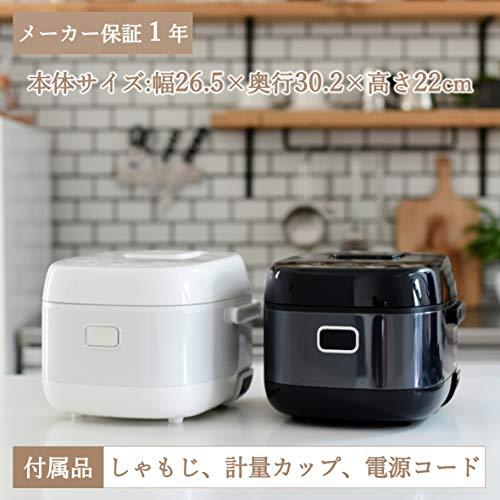 [山善] IH炊飯器 5.5合 8種類炊き分け機能 IH式 炊飯器 温泉卵モード 玄米 雑穀米 保温 予約機能 ブラック YJN-E10(B) [メーカー保証1年]