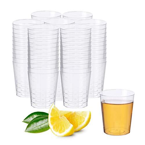 Matana 300 Vasos de Chupito de Plástico Duro, 30ml - Reutilizable