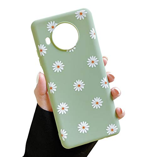 ZTOFERA TPU-Schutzhülle für Xiaomi Mi 10T Lite, Gänseblümchen-Muster, matt, weich, TPU, schmal, leicht, Schutzhülle für Xiaomi Mi 10T Lite – Grün