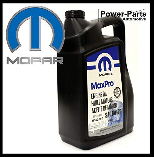 MOPAR Motoröl 5W20 (Inhalt 5-Liter) SAE/VISKOSITAET 5W-20 / Spezifikationen API SN, ILSAC GF-5