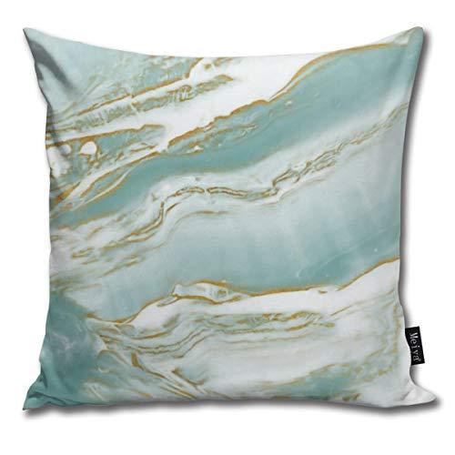 Zara-Decor Marmer Turkoois Blauwgroen en Goud Thuis Decoratieve Kussensloop Kussensloop voor Gift Home Couch Bed Car 18