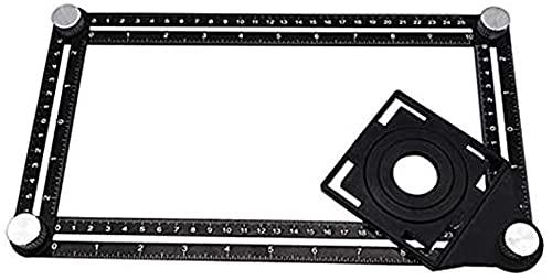 GCX Conveniencia Regla de ángulo Digital Herramienta Universal Multifuncional Regla de la Regla Plegable de Cuatro cuadradas en Forma de Tractor de azulejo de cerámica Perforada De múltiples Fines