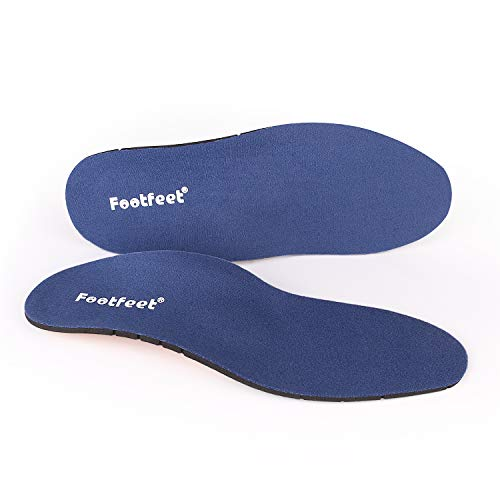 Footfeet Orthotic Insoles,Odorless Breathable Light Weight Shoe Inserts,Best Shock Absorption & Cushioning Insoles for Plantar Fasciitis,Running,Flat Feet,Heel Spurs & Foot Pain - for Men & Women(XL)