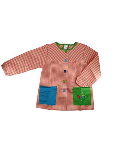 Kiz Kiz Bata Escolar Infantil Multicolor Baby Infantil de Cuadros - (3 años, Naranja)