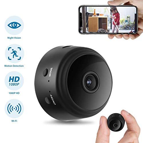 Cámara oculta, cámara de seguridad doméstica WiFi Super Night Vision 1080P cámara de vigilancia inalámbrica, lente gran angular de 150 °, alerta de detección de actividad de cámara de niñera, aplicaci