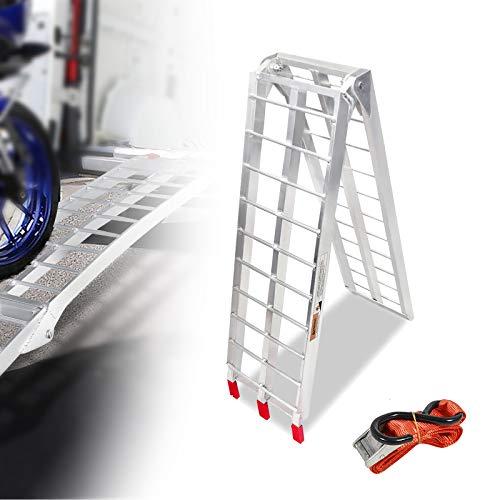 LZQ Auffahrrampe Faltbare ALU 340 kg /750LBS Rampe klappbar Alu Auffahrrampe 680 kg /1500 LBS Tragkraft/Paar Rampe Verladerampen (1 Stück Typ-B)