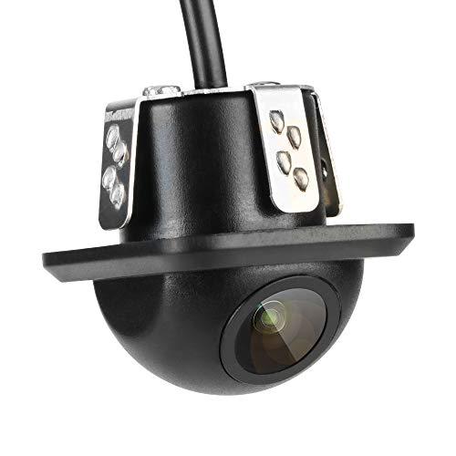Jansite Cámara de Marcha atrás, cámara de visión Lateral HD IP68, Impermeable, súper visión Nocturna, cámara de Respaldo de visión Trasera Gran Angular para Coches, caravanas, Furgonetas, 12 V