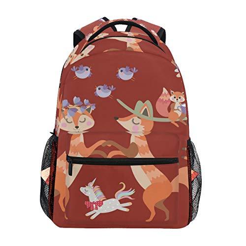 Zaino per la scuola di viaggio con volantini Unicorno piccolo per ragazzi