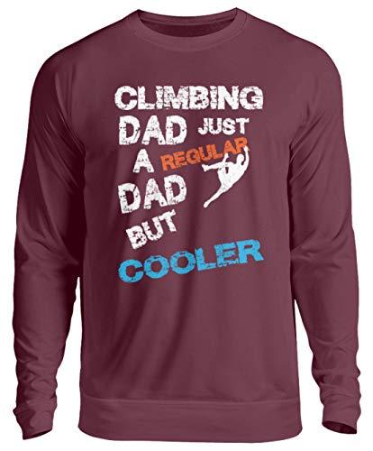 generisch Climbing Dad Kletter Papa Klettern Kletterausrüstung Bouldern Sportklettern Kletterhalle - Unisex Pullover -3XL-Burgundy