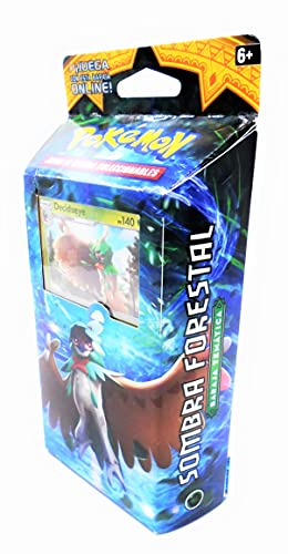 sol y luna juego de cartas (60 x unidades mixtas) coleccionables, sombra forestal , baraja temática , pokemon (lengua española)
