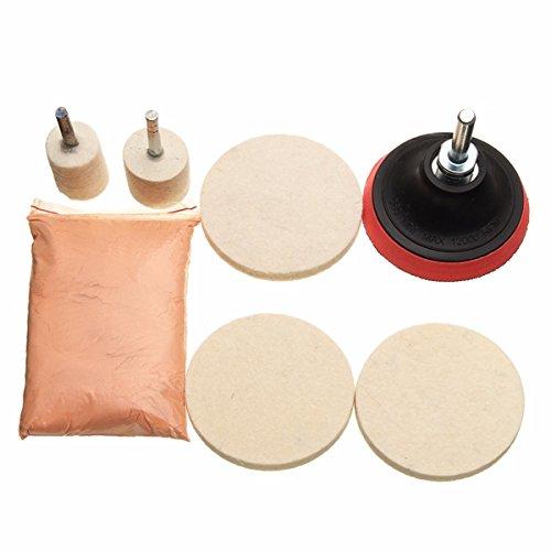 YONGYAO 120G Kit De Polissage D'Oxyde De Cérium en Poudre Feutre À Polir Roue Pad & Drill Adaptateur