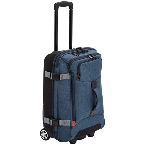 AmazonBasics Rolling Travel Duffel Bag Luggage with Wheels, Small, Green