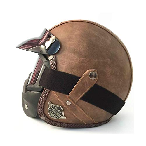 Jie KE Seizoenen Vintage helm handgemaakte persoonlijkheid Vintage Harley helm motorhelm